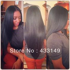 Online Shop Glueless Full Lace Wigs :New arrival Unprocessed Top Quality Natural Color Silky Straight Brazilian Human Hair Weave Hairstyles, Pretty Hairstyles, Straight Hairstyles, Extension Hairstyles, Love Hair, Gorgeous Hair, Amazing Hair, Hello Gorgeous, Curly Hair Styles
