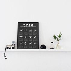 Image of 'Scratched' Calendar 2015