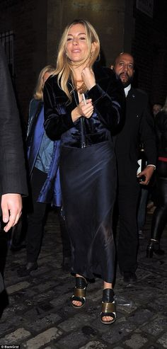 Sienna Miller is stylish in jacket after leaving theatre | Daily Mail Online