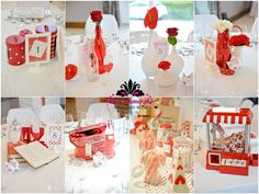 Photography : Béatrice de Guigné Don't like all the arrangements but I like that there is not too much red; just little hints of red and I love that!
