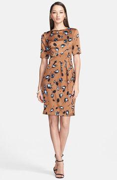 St. John Collection Rosebud Print Silk Charmeuse Dress   Nordstrom