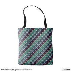 Aquatic Scales Tote Bag