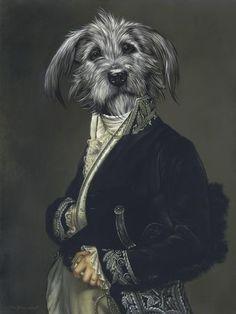 """Résultat de recherche d'images pour """"portrait chien habille"""""""