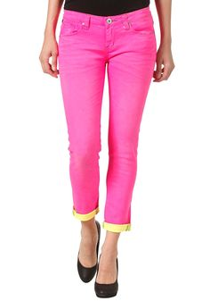 ONE GREEN ELEPHANT Womens Kosai Up Pant neon pink/neon yellow #planetsports