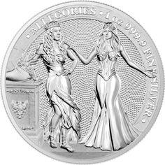 Germania 2019 5 Mark The Allegories i-Color Edition Orange 1 Oz Silver Coin