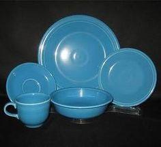 fiestaware five piece placesetting - Turquoise