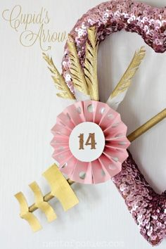 Valentine's wreath #sequins