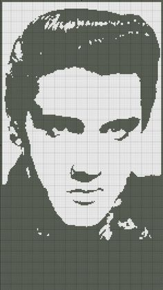 Cross Stitch Pattern Elvis Silhouette by SilhouetteCentral on Etsy