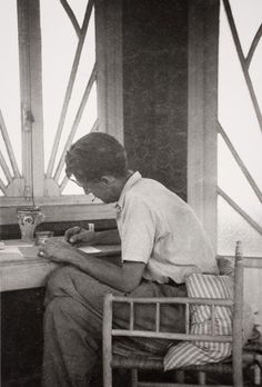 George Orwell in Morocco, during the end of the thirties.