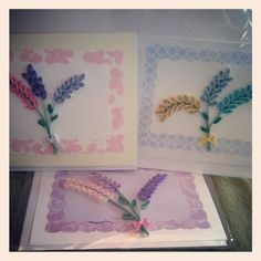 Quilled hyacinth cards