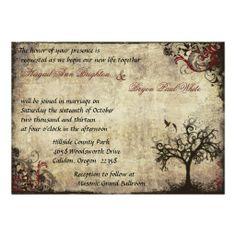 Vintage New Life Wedding Invitation in Wine