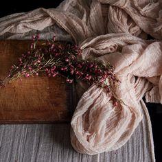 Plant Dyed Table Runner {BLUSH} medium weave