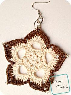 Mini Mandala Earrings crochet pattern by DivineDebris.com