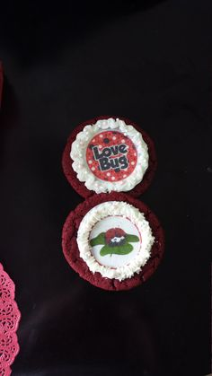 15 assorted edible lady bug cupcake or cookie by ohSEWcuddly