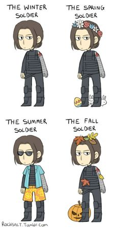 Seasonal Bucky. THIS, my dears, was what I thought we should do for our seasonal costumes. *wink*