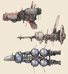 ArtStation - little fast ships . , Tano Bonfanti