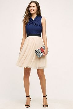 Darla Tulle Dress #anthropologie- look at the version with the white top