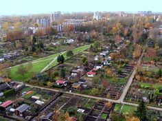 Allotment gardens - You can find these in the Netherlands (singular: volkstuin; plural: volkstuinen).  In some cases, people are allowed to live in them during the summertime.  More about these here: http://en.wikipedia.org/wiki/Allotment_(gardening)#Netherlands