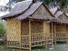 Click to Close Hut House, Bali House, Bahay Kubo Design Philippines, Beach Bungalows, Beach Huts, Treehouse Cabins, Weather Storm, Bamboo House, Bamboo Crafts
