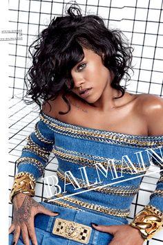 Balmain, Spring 2014. Model: Rihanna, Photographer: Inez van Lamsweerde and Vinoodh Mataddin