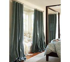 velvet curtains. so pretty
