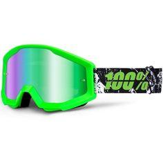 100% Strata Crafty Lime w/ Green Tint Goggles www.ridestore.no