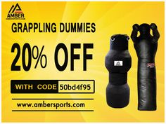 These Amber Grappling Dummies are great partner to train with, without the risk of hurting anyone. Synthetic leather constructed Grappling Dummies are perfect for practicing takedowns, throws, submissions and strikes. Use this coupon code [50bd4f95] and get 20% Off on all boxing gear at ambersports.com