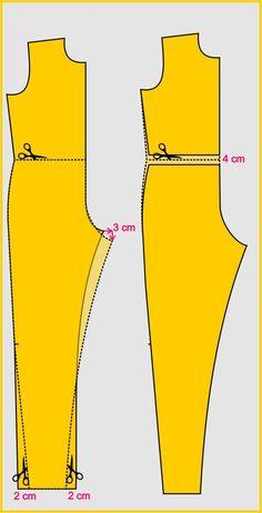 Para fazer a adaptação deste modelo, utilize a base do maca Jumpsuit Pattern, Pants Pattern, Dress Sewing Patterns, Clothing Patterns, Sewing Clothes, Diy Clothes, Costura Fashion, Crochet T Shirts, African Fashion Dresses