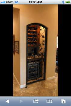 Storage closet idea: instant wine cellar