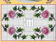 Handicrafts: Roses for embroidery cross stitch / Cross stitch roses Cross Stitch Boards, Cross Stitch Rose, Cross Stitch Flowers, Cross Stitching, Cross Stitch Embroidery, Hand Embroidery, Embroidery Designs, Funny Cross Stitch Patterns, Cross Stitch Designs
