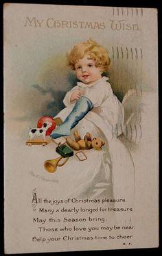 Clapsaddle Christmas Postcard, Early #Christmas