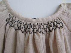 blouse crépon à smocks