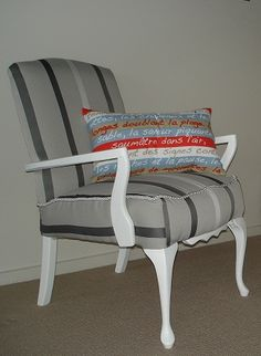 Grey chair after