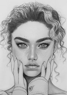 Pencil Portrait Drawing, Portrait Sketches, Pencil Art Drawings, Realistic Drawings, Art Drawings Sketches, Portrait Art, Cool Drawings, Drawing Portraits, Face Drawings