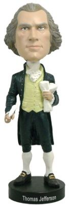 Thomas Jefferson Bobblehead. From the Library of Congress Shop.