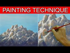 How to Paint Sunlit Rocky Mountains in Acrylic by JM Lisondra - YouTube