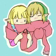 Link and Zelda! Sooo cute!! XD