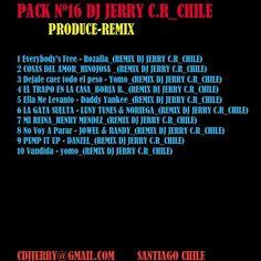 PACK DJ JERRY produce Remix Vol. 16 gratis | Pack De musica remix gratis | My Zona DJ online