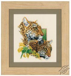 Leopard Duo Cross Stitch Kit By Vervaco Cross Stitch Animals, Cross Stitch Kits, Counted Cross Stitch Patterns, Cross Stitch Designs, Cross Stitch Embroidery, Small Lanterns, Art Origami, Art Du Fil, Dmc