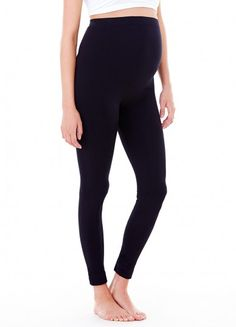 Ingrid & Isabel - Seamless Belly Leggings - Black-1