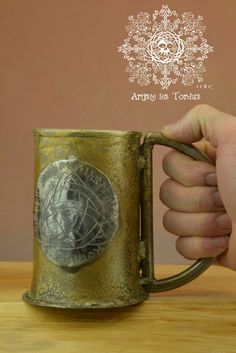 Beer triquetra triskel tankard Mug stein,,triskel,celtic,mug,beer, beverage, vicking,larp,rune,drink,wrought iron, stein,triquetra