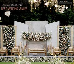 17 Modern Wedding Stage Design and Decor Inspirations You'll . Best Picture For wedding decorations hall For Your Taste You are looking for something, and it is going to tell you exactly what you ar Wedding Backdrop Design, Wedding Stage Design, Wedding Reception Backdrop, Wedding Ceremony Backdrop, Reception Stage Decor, Wedding Venues, Wedding Mandap, Wedding Ideas, Indoor Wedding Decorations
