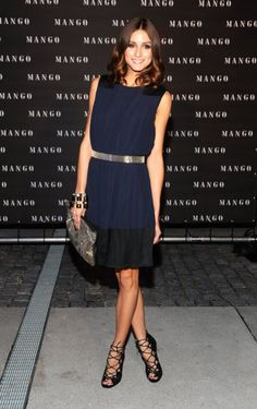 the shoes and belt make this otherwise simple dress from Mango look a million bucks.