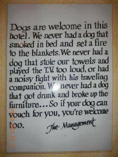 Dogs in hotels