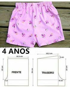 Short Niña, Short Girls, Baby Girl Dress Design, Kids Frocks Design, Frock Design, Baby Sewing, Dressmaking, Patterned Shorts, Designer Dresses