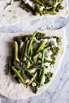 Asparagus, Pistachio Pesto and Ricotta Gozleme | halfbakedharvest.com @hbharvest