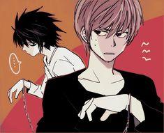 Death Note Fanart, L Death Note, L X Light, Emo, L Wallpaper, L Lawliet, Light Yagami, Shinigami, Ereri