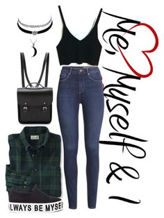 """""""Everyday look"""" by saramalesevic ❤ liked on Polyvore featuring mode, H&M, The Cambridge Satchel Company, Carolina Glamour Collection en Charlotte Russe"""