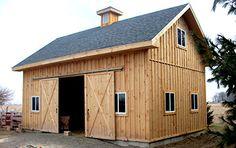 The ashokan pole barn garage and workshop plans at for Hobby barn plans