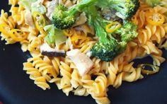 Glutenfreie Mais-Pasta mit Pilzen & Broccoli
